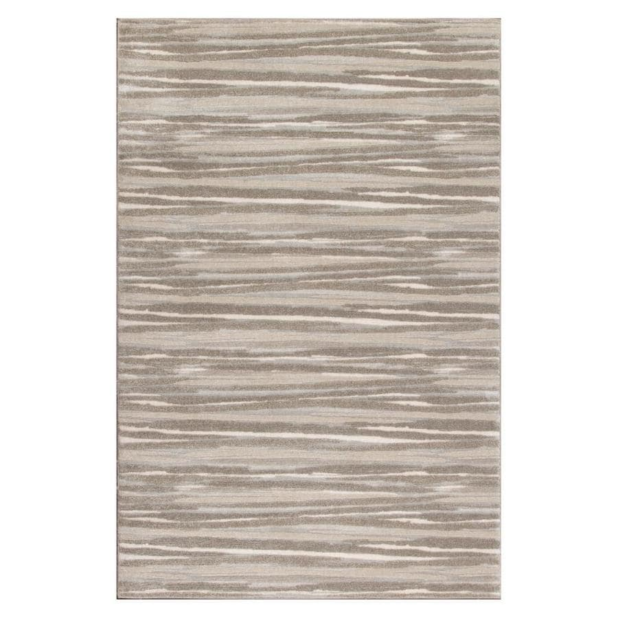 Allen + Roth Crawburg Neutral Rectangular Indoor Machine Made Nature Area  Rug (Common: