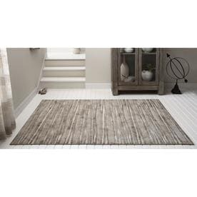 Shop Allen Roth Crawburg Neutral Indoor Nature Area Rug