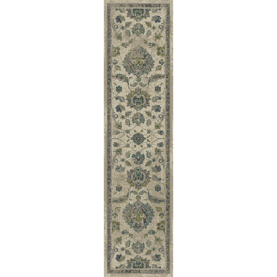 allen + roth Portsbury Beige Rectangular Indoor Woven Oriental Runner (Common: 2 x 8; Actual: 22-in W x 90-in L)
