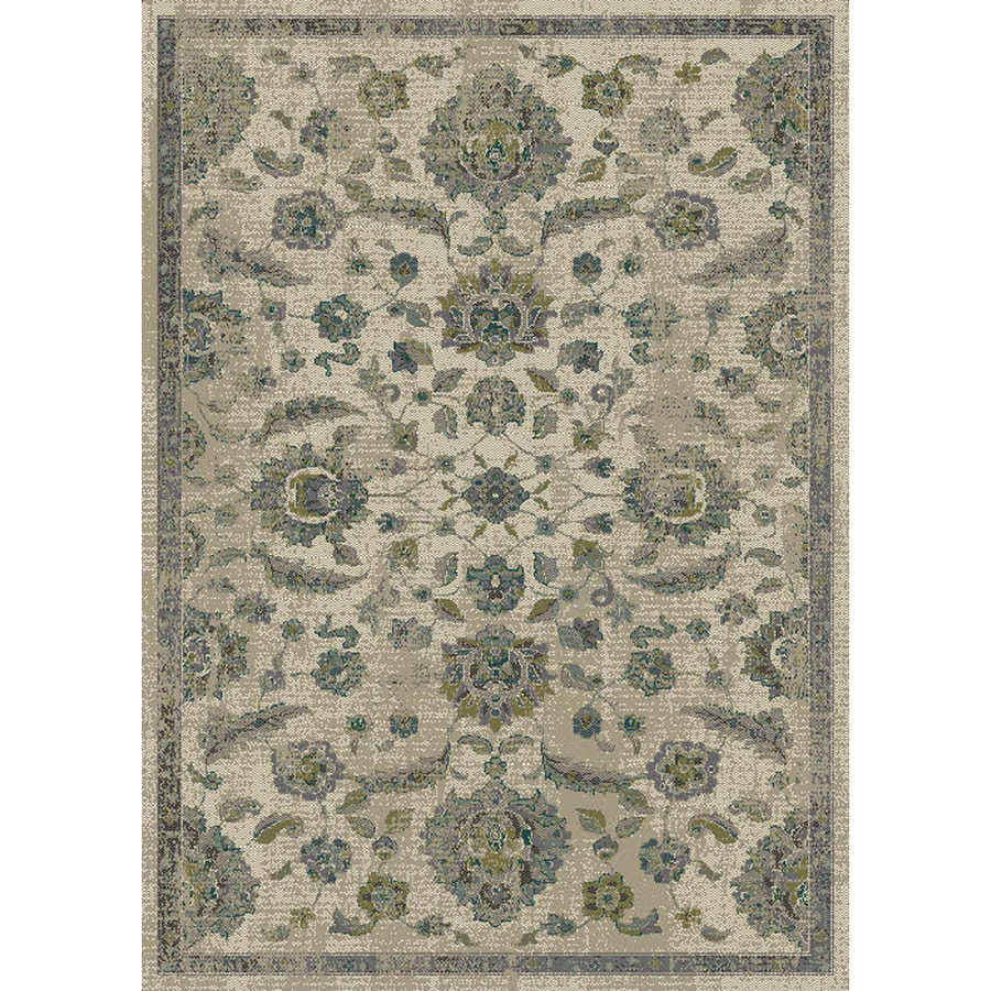 Allen + Roth Portsbury Beige Rectangular Indoor Woven Oriental Area Rug  (Common: 8 X