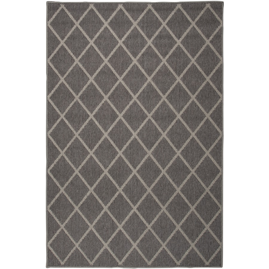 Oriental Weavers of America Tuscany Mocha Rectangular Indoor/Outdoor Woven Area Rug (Common: 4 x 6; Actual: 3.833-ft W x 5.416-ft L)