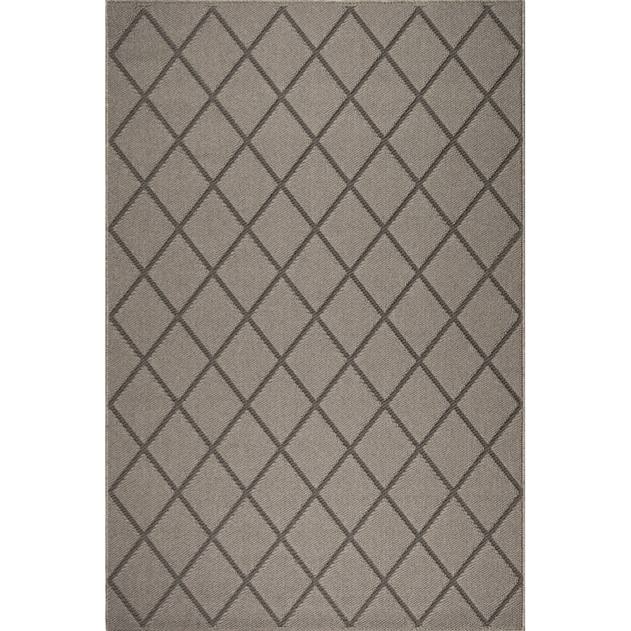Oriental Weavers of America Tuscany Latte Rectangular Indoor and Outdoor Woven Area Rug (Common: 8 x 11; Actual: 94-in W x 130-in L)