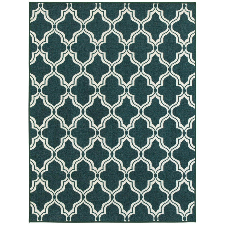 Oriental Weavers of America Landry Turquoise Rectangular Indoor Tufted Area Rug (Common: 5 x 7; Actual: 5-ft W x 6.58-ft L)