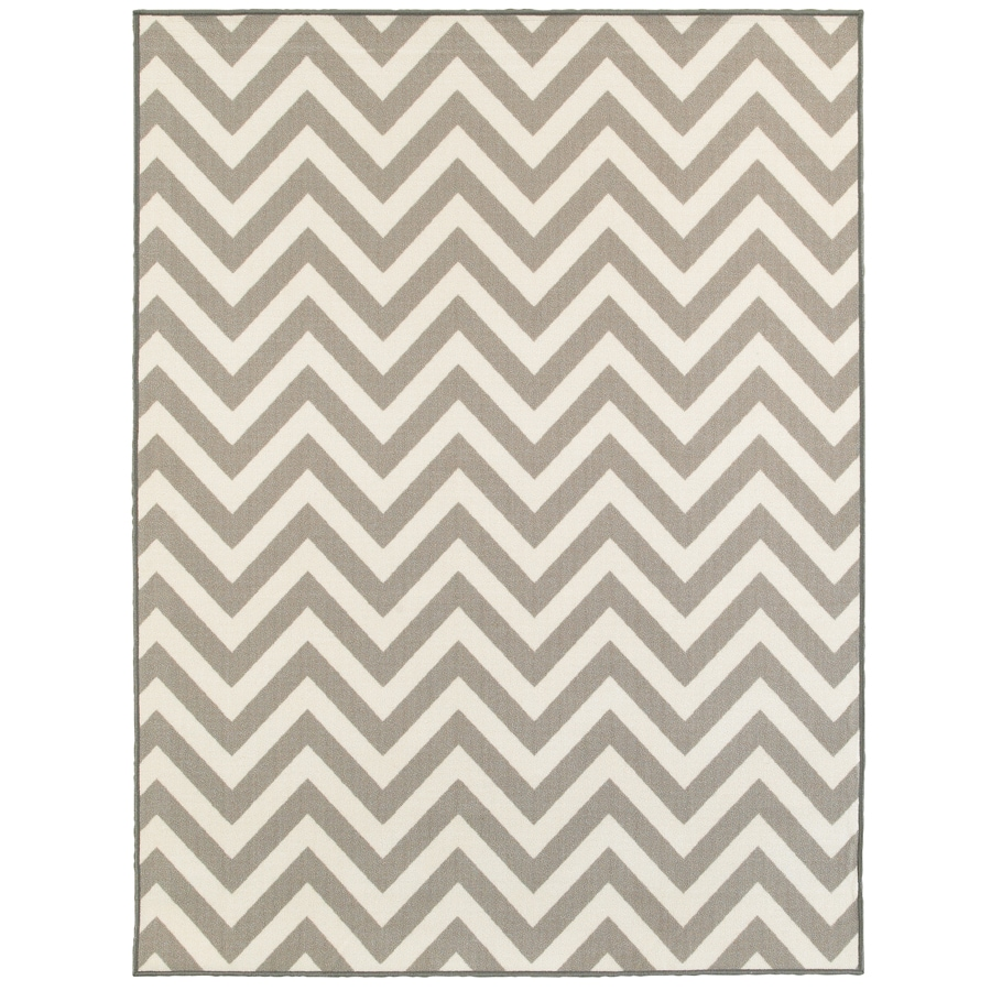 Oriental Weavers of America Avalon Gray Rectangular Indoor Tufted Area Rug (Common: 5 x 7; Actual: 5-ft W x 6.58-ft L)