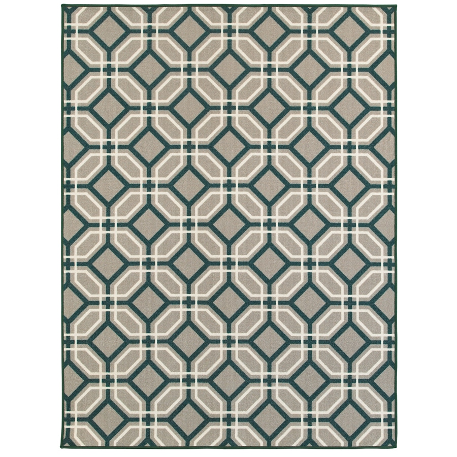Oriental Weavers of America Arden Gray Rectangular Indoor Tufted Area Rug (Common: 5 x 7; Actual: 5-ft W x 6.58-ft L)