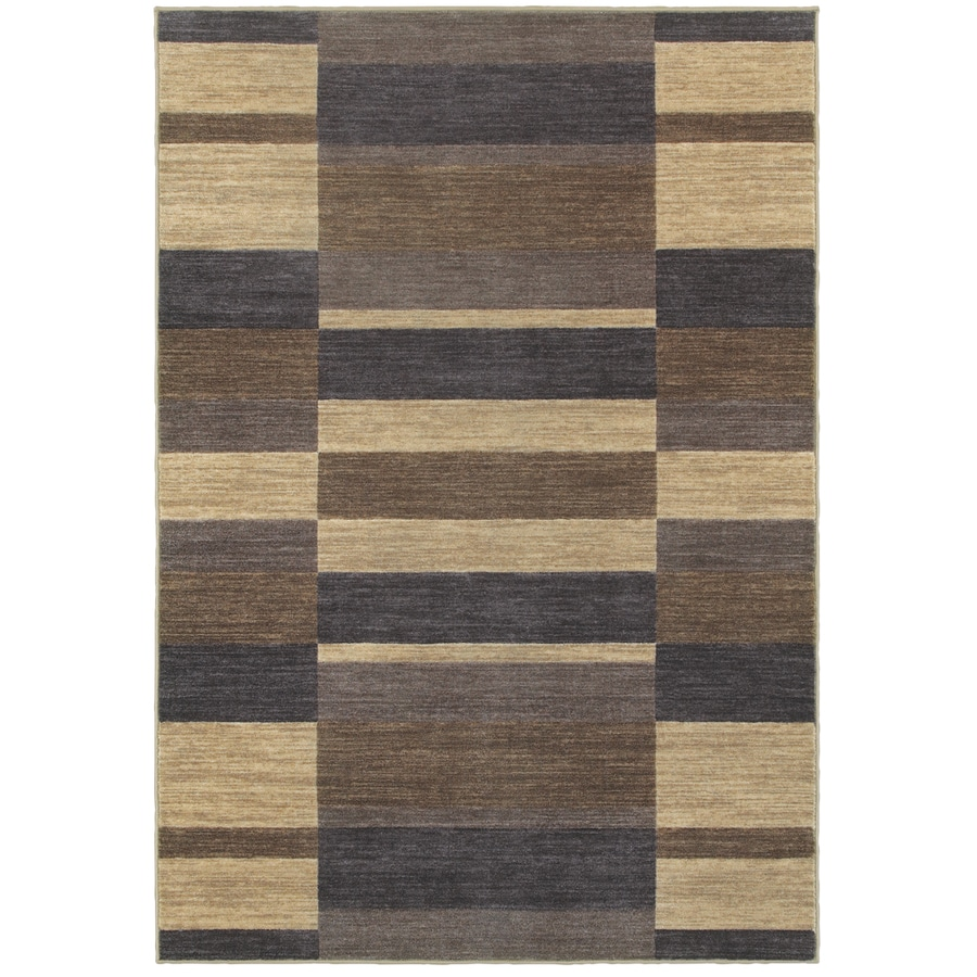 Oriental Weavers Of America Cosmopolitan Slate Rectangular Indoor Tufted  Area Rug (Common: 5 X