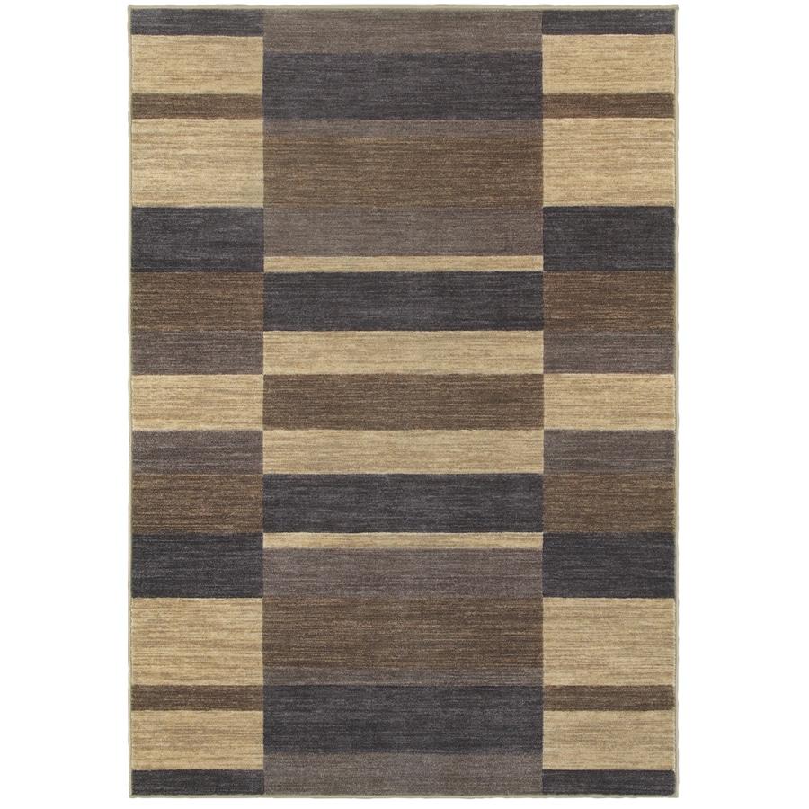 Oriental Weavers of America Cosmopolitan Slate Rectangular Indoor Tufted Area Rug (Common: 4 x 6; Actual: 3.83-ft W x 5.92-ft L)