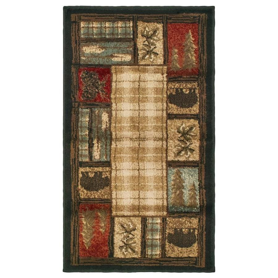 Oriental Weavers of America Hideaway Indoor Lodge Throw Rug (Common: 2 x 4; Actual: 1.83-ft W x 3.25-ft L)