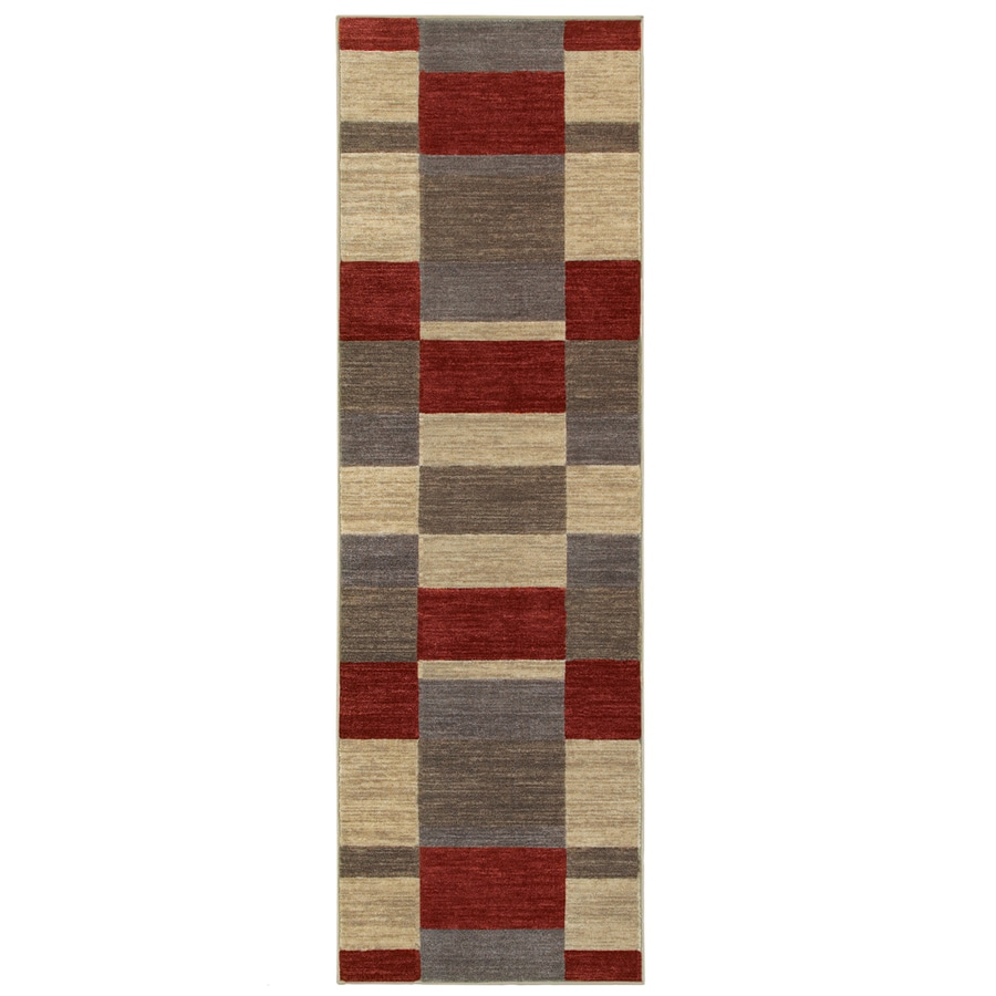 Oriental Weavers of America Cosmopolitan Red Rectangular Indoor Machine-Made Runner (Common: 2 x 8; Actual: 2.17-ft W x 7.5-ft L)