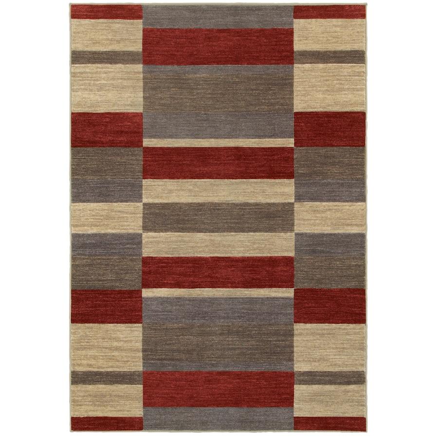 Oriental Weavers of America Cosmopolitan Red Rectangular Indoor Tufted Area Rug (Common: 4 x 6; Actual: 3.83-ft W x 5.92-ft L)