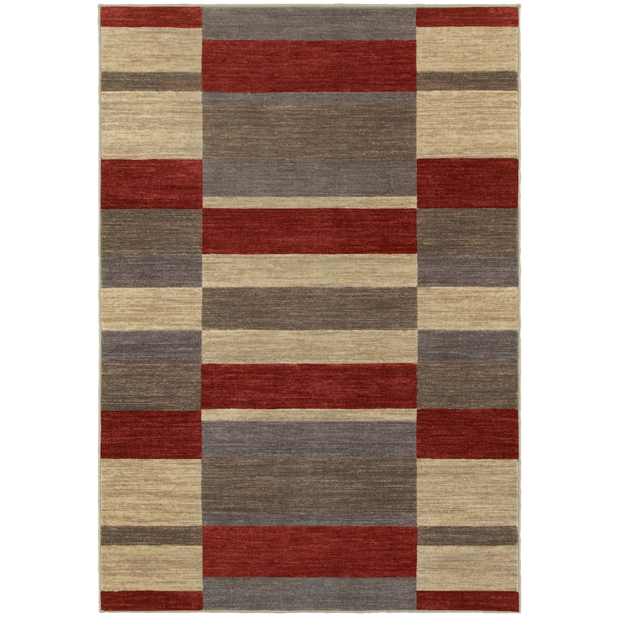 Oriental Weavers of America Cosmopolitan Red Rectangular Indoor Tufted Area Rug (Common: 9 x 12; Actual: 9.33-ft W x 11.83-ft L)
