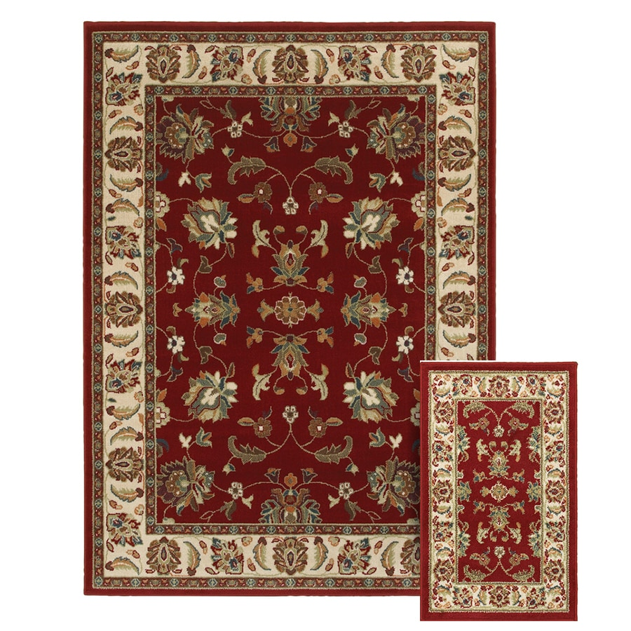 Oriental Weavers Of America Legacy Red Indoor Area Rug Common 5 X 7