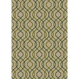 Garden Treasures Fresfront Sand Rectangular Indoor Outdoor Machine Made Coastal Area Rug Common