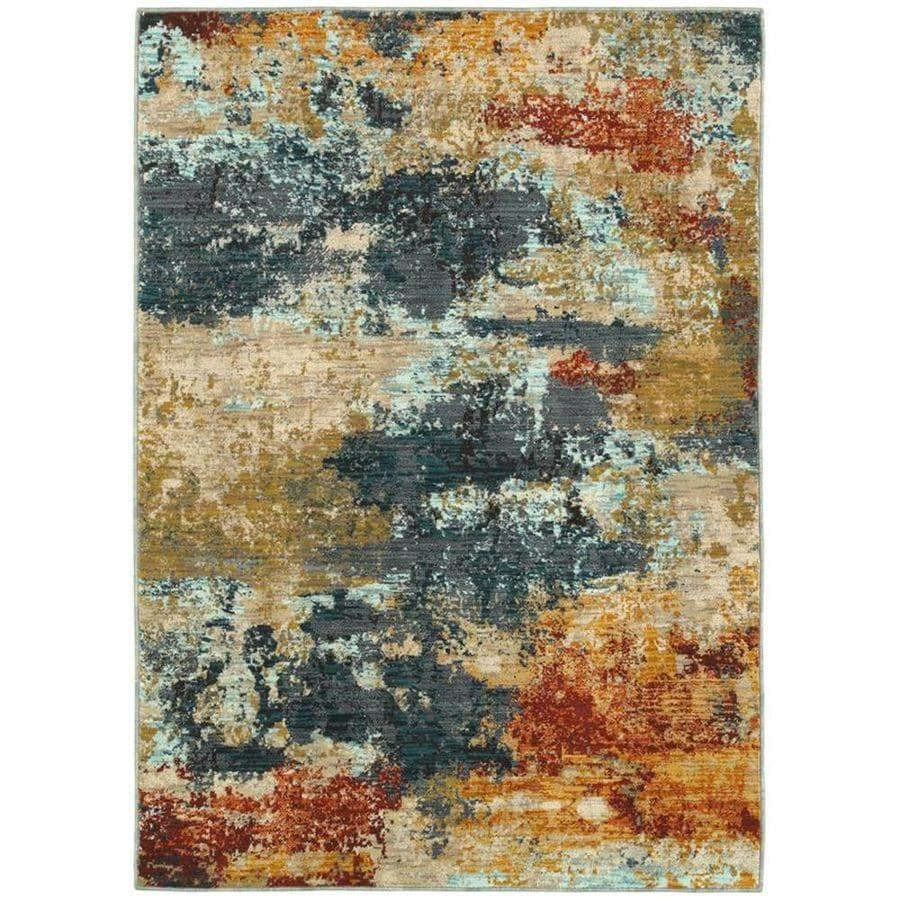 Oriental Weavers Of America Brisbane Multicolor Indoor Area Rug Common 5 X 8