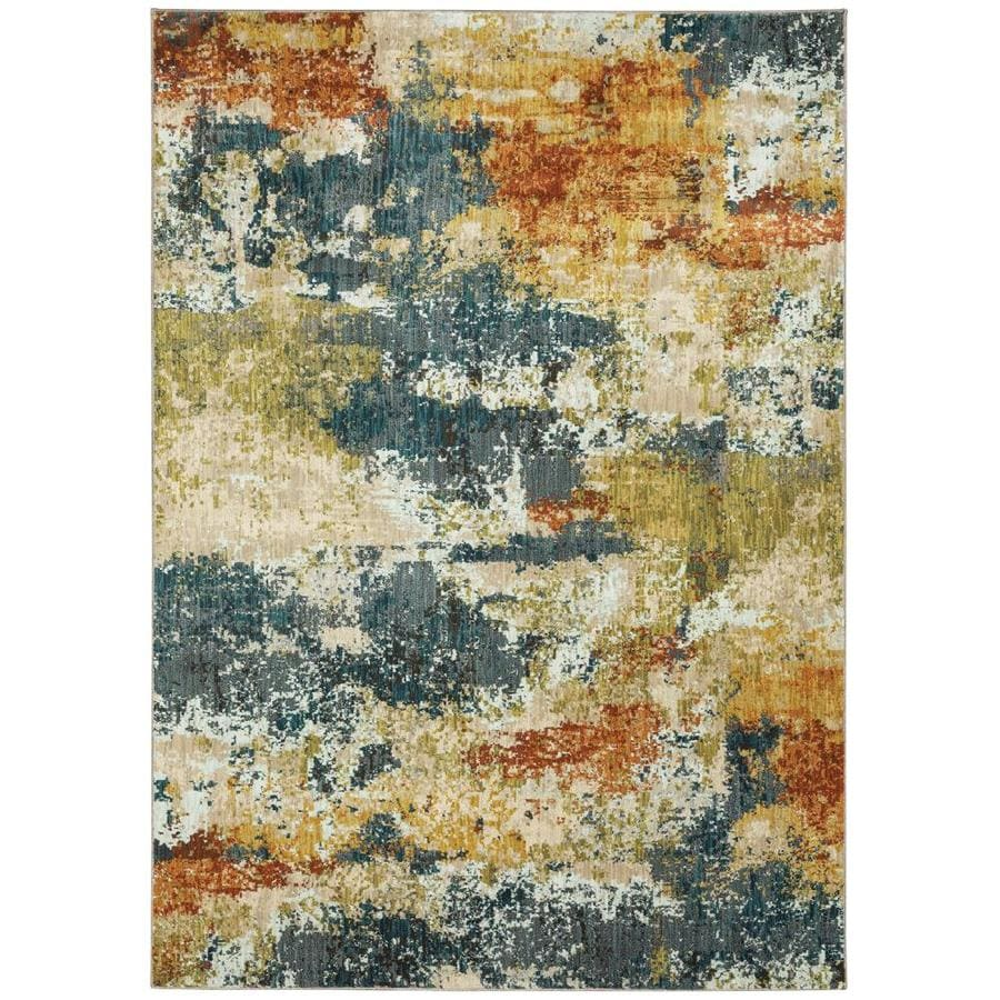 Oriental Weavers of America Brisbane Multicolor Rectangular Indoor Woven Area Rug (Common: 8 x 11; Actual: 7.83-ft W x 10.83-ft L)