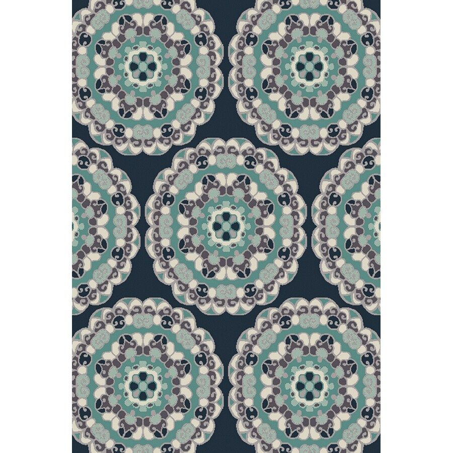 Oriental Weavers Of America Glendale Navy Rectangular Indoor Outdoor Woven Area Rug Common