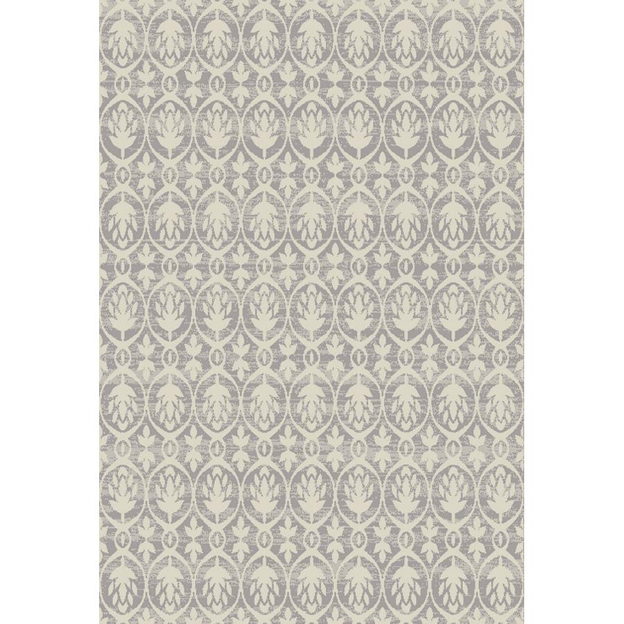 Oriental Weavers of America Veranda Light Gray Rectangular Indoor/Outdoor Woven Area Rug (Common: 5 x 7; Actual: 5-ft W x 6.58-ft L)
