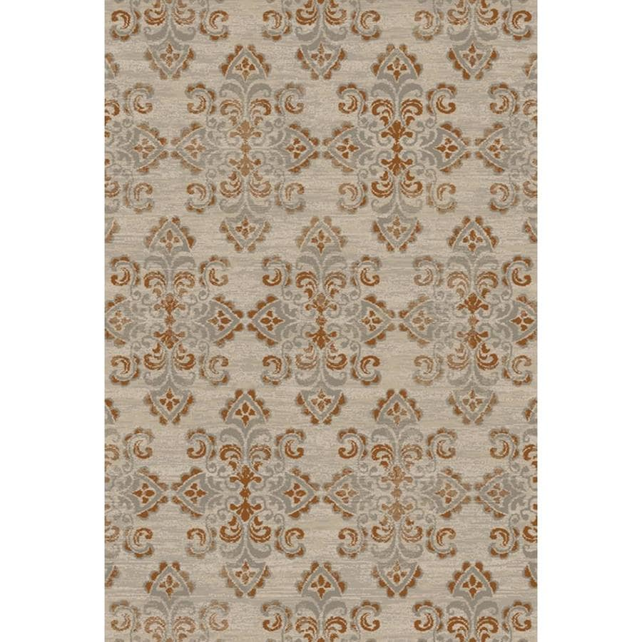 allen + roth Whitmire Sand Indoor Oriental Area Rug (Common: 8 x 10; Actual: 7.833-ft W x 10.833-ft L)