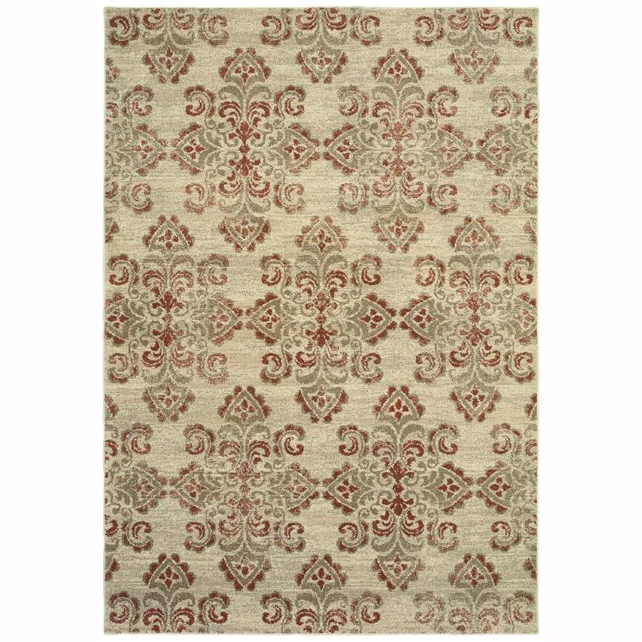 allen + roth Whitmire Sand Indoor Oriental Area Rug (Common: 10 x 13; Actual: 9.83-ft W x 12.67-ft L)