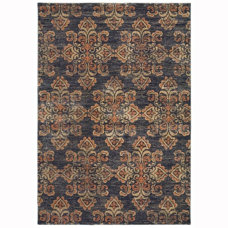 allen + roth Whitmire Midnight Indoor Oriental Area Rug (Common: 5 x 8; Actual: 5.25-ft W x 7.5-ft L)