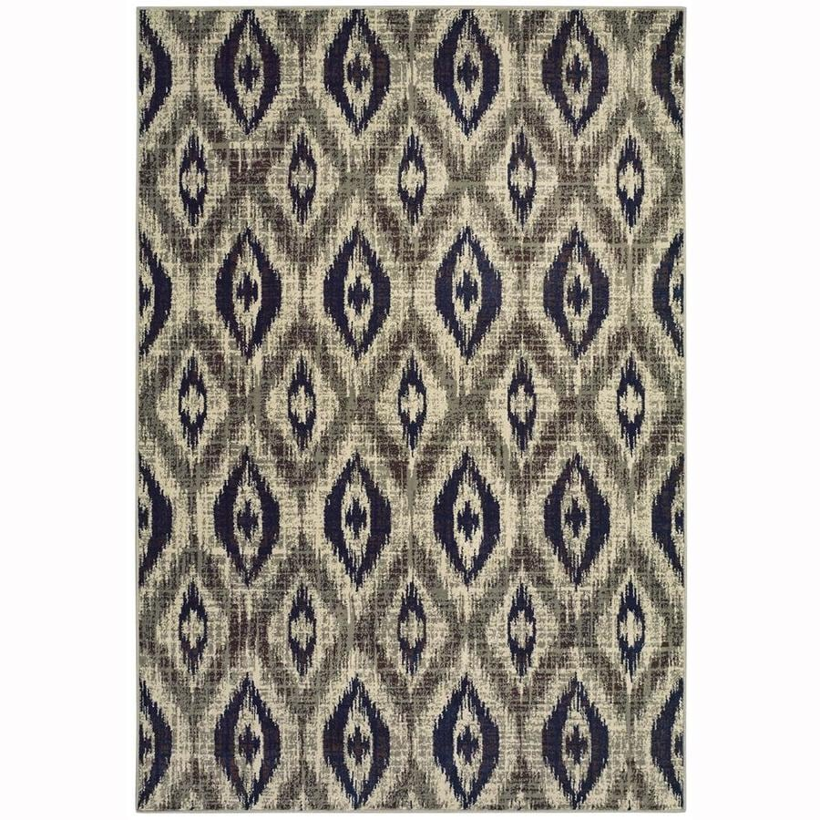 allen + roth Embrook Gray Rectangular Indoor Machine-Made Moroccan Area Rug (Common: 4 x 6; Actual: 3.83-ft W x 5.42-ft L)