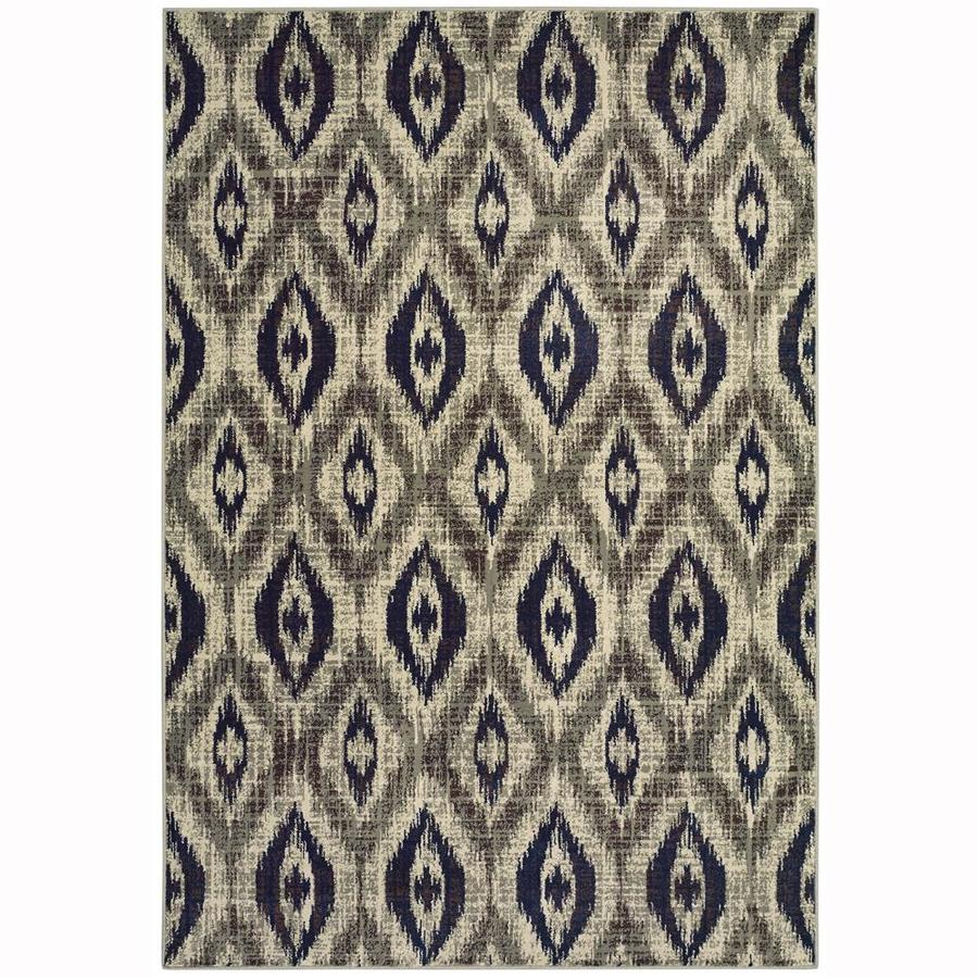 allen + roth Embrook Gray Rectangular Indoor Machine-Made Moroccan Area Rug (Common: 9 x 12; Actual: 9.83-ft W x 12.67-ft L)