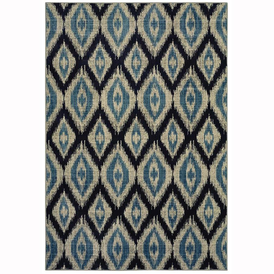 allen + roth Embrook Blue Rectangular Indoor Machine-Made Moroccan Area Rug (Common: 5 x 7; Actual: 5.25-ft W x 7.5-ft L)