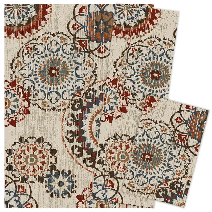 Oriental Weavers of America Darby 3-Piece Set Indoor Area Rugs (Common: 5 x 7; Actual: 5-ft W x 6.58-ft L)