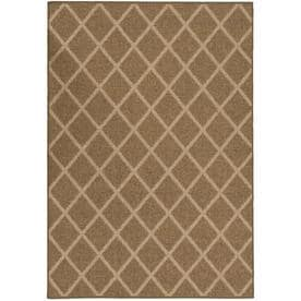 allen + roth Natural Lattice Beige Rectangular Indoor/Outdoor Machine-Made Area Rug (Common: 5 x 7; Actual: 5-ft W x 7-ft L)