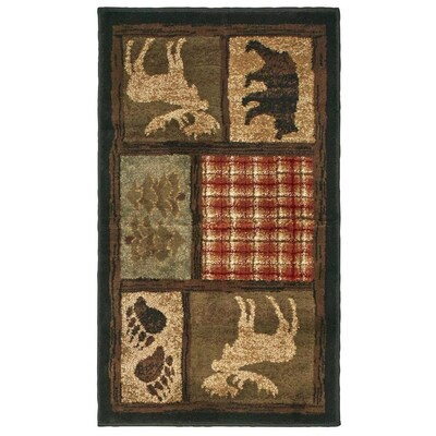 Woodland Multi Indoor Lodge Throw Rug Common 2 X 3 Actual 1 83 Ft W 25 L