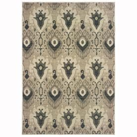 Oriental Weavers of America Bancroft Ivory Indoor Area Rug (Common: 5 x 8; Actual: 5.25-ft W x 7.5-ft L)