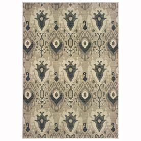 Oriental Weavers of America Bancroft Ivory Indoor Area Rug (Common: 8 x 11; Actual: 7.83-ft W x 10.83-ft L)