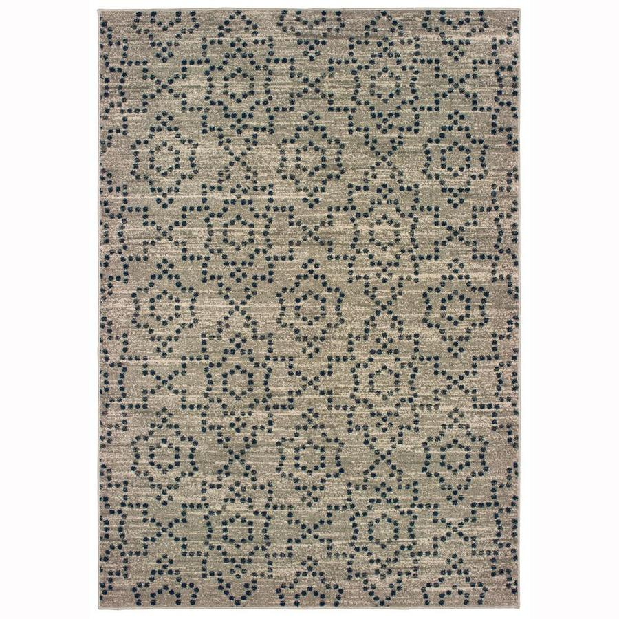 Allen Roth Candone Charcoal Indoor Area Rug Common 10