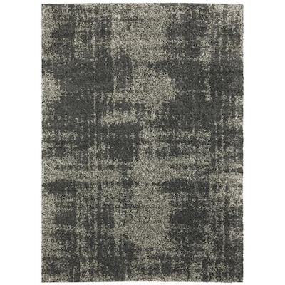 Echolyn Charcoal Rectangular Indoor Machine Made Area Rug Common 8 X 11 Actual 7 83 Ft W 10 L