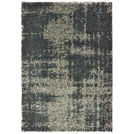 70ebe922ced allen + roth Echolyn Charcoal Indoor Area Rug (Common  8 x 11  Actual