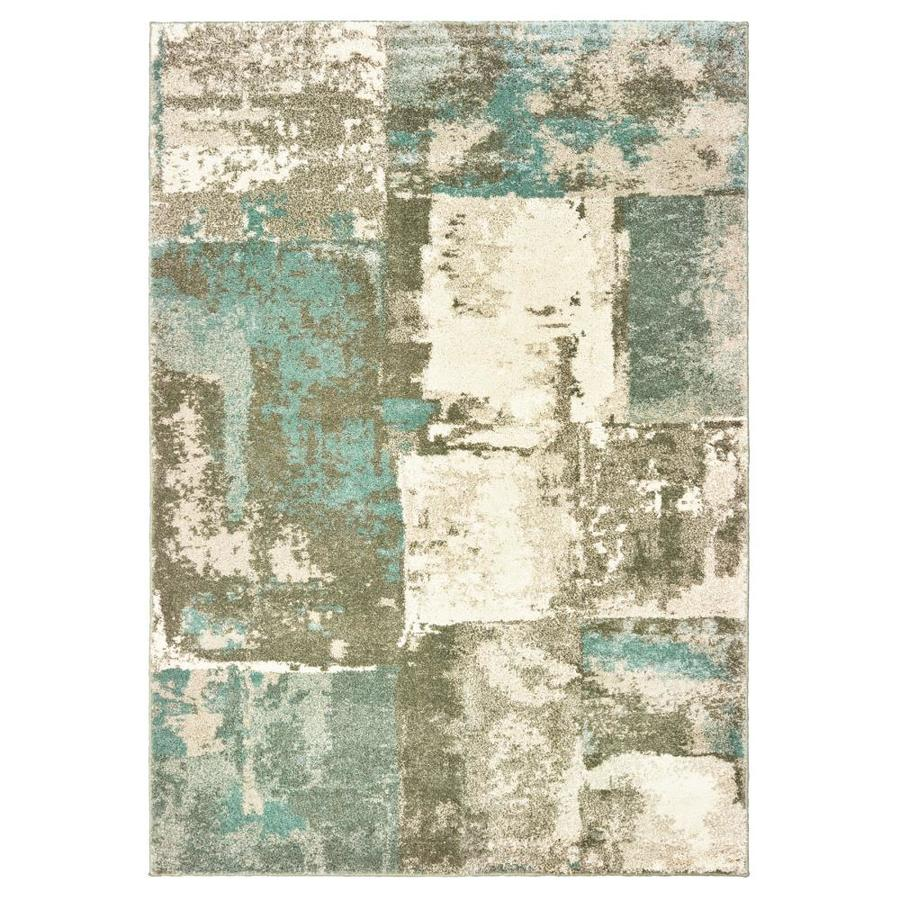 Allen Roth Layton Blue Indoor Area Rug Common 5 X 8