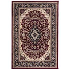 Style Selections Linalore Red Rectangular Indoor Machine-Made Area Rug (Common: 5 x 8; Actual: 5.25-ft W x 7.5-ft L)