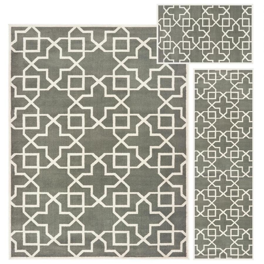 Oriental Weavers Of America Set Of 3 Karney Gray Indoor Area Rug