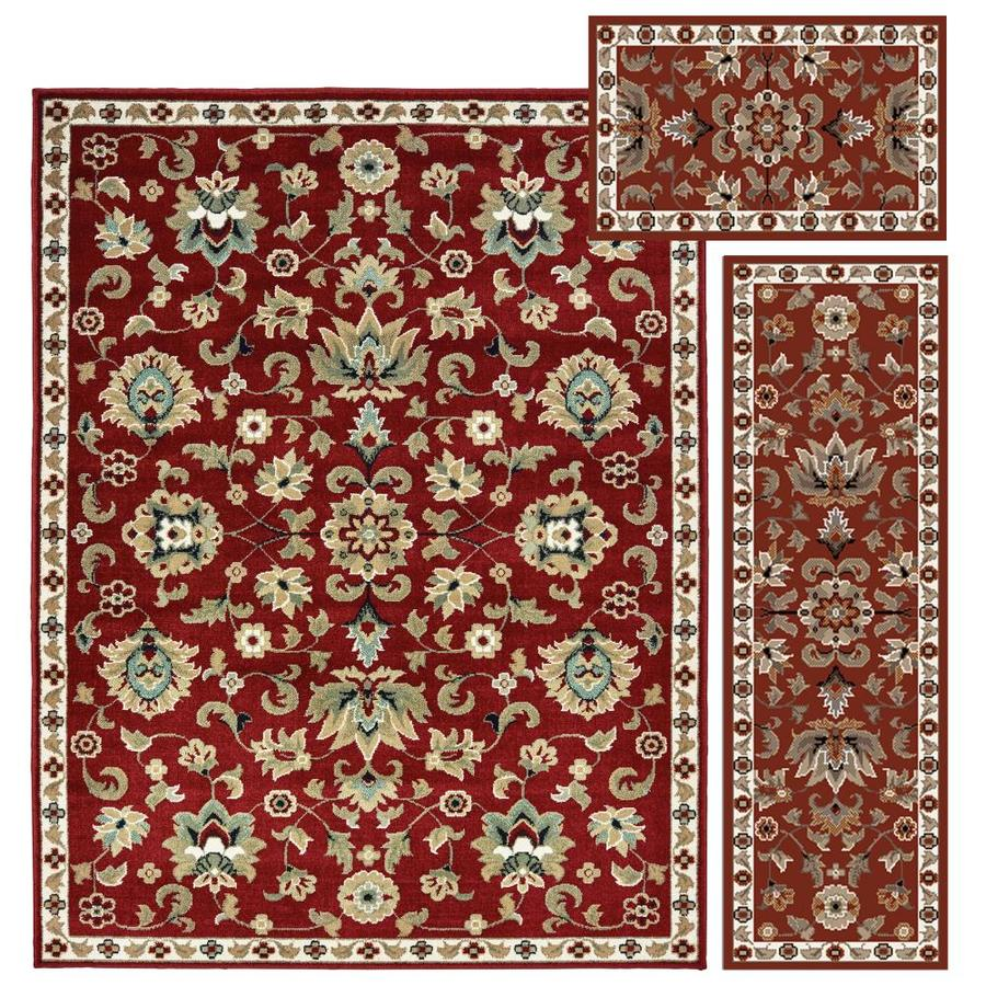 Oriental Weavers Of America Cadena Red Indoor Area Rug Common 5 X 7 Actual Ft W 6 58 L