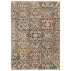 allen + roth Caprilee Beige Rectangular Indoor Machine-Made Vintage Area Rug (Common: 5 x 8; Actual: 5.25-ft W x 7.5-ft L)