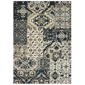 allen + roth Aurelia Gray Indoor Global Throw Rug (Common: 2 x 3; Actual: 1.83-ft W x 3.25-ft L)