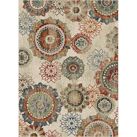 Oriental Weavers of America Carson Multi Indoor Bohemian/Eclectic Area Rug (Common: 5 x 7; Actual: 60-ft W x 79-ft L)