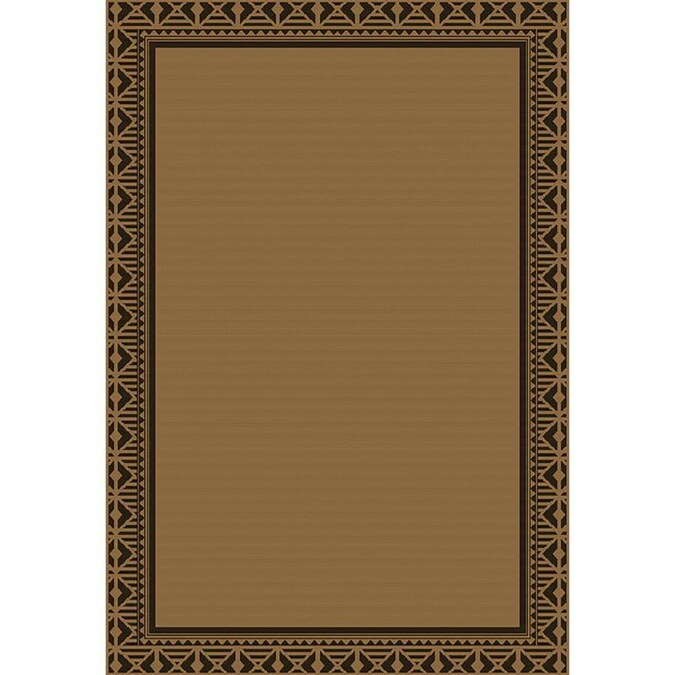 Style Selections Neutral Geo Border 5 X 7 Neutral Indoor Outdoor Border Coastal Area Rug In The Rugs Department At Lowes Com