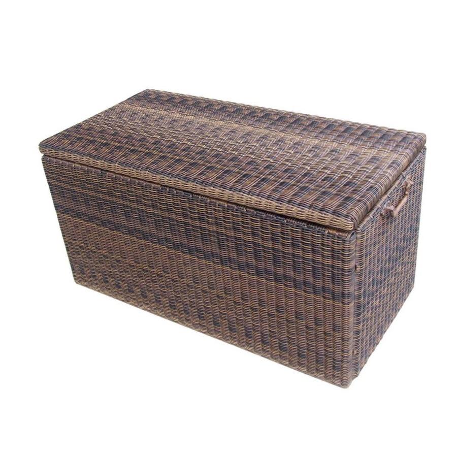 garden treasures wicker deck storage box