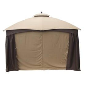 Allen Roth Brown Metal Rectangle Screened Gazebo