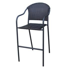 Garden Treasures Wicker Bar Stool Chair  sc 1 st  Loweu0027s & Shop Bar stool Patio Chairs at Lowes.com