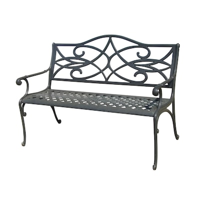 Peachy 25 In L X 50 In D X 34 In H Water Bridge Aluminum Black Park Bench Onthecornerstone Fun Painted Chair Ideas Images Onthecornerstoneorg