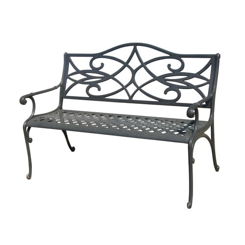 Brilliant Style Selections 25 In L X 50 In D X 34 In H Water Bridge Aluminum Black Park Bench At Lowes Com Ibusinesslaw Wood Chair Design Ideas Ibusinesslaworg