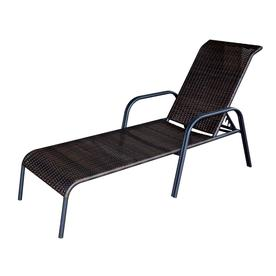 Merveilleux Garden Treasures Wicker Chaise Lounge Chair