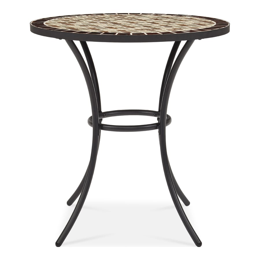 Garden Treasures Pelham Bay 28-in W x 28-in L Round Steel Bistro Table